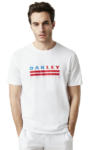 oakley men's white t-shirt